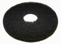 16 Black Round Floor Pads - Box of 5