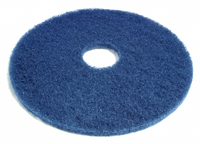 "19"" Blue Round Floor Pads - Box of 5"