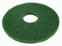 "13"" Green Round Floor Pads - Box of 5"