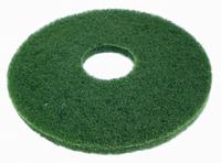 "17"" Green Round Floor Pads - Box of 5"