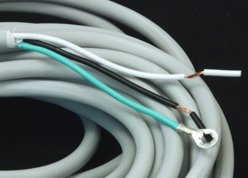POWER CORD, 18/3 GRAY 50' - 300V - ENDS