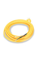Heavy Duty Power Cord 16/3 Yellow 25' 600V