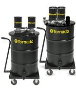 Tornado 95961 - Pneumatic, Drum Vacuum, 55 gal Tank Size, Steel, 2 in Vacuum Hose Dia., 160 cfm Vacuum Air Flow