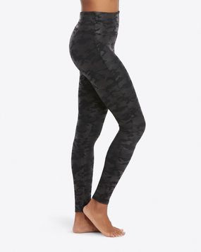 SPANX faux leather Black CAMO leggings