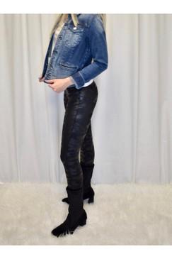 SPANX Faux Leather Black CAMO leggings