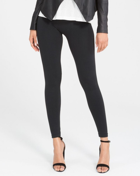 Look At Me Now Seamless Leggings by Spanx in Black.