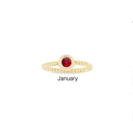 January/Siam Birthstone Ring by Luca + Danni $26