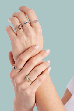 Luca + Danni Stackable Rings - Choose Your Color