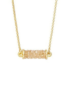 Luca + Danni Druzy Tube Slider Necklace