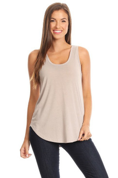 Simple Light Grey Tank by Pink Note