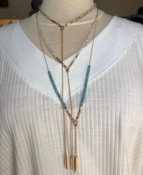 Multi Way Gold Necklaces-Splendid Iris