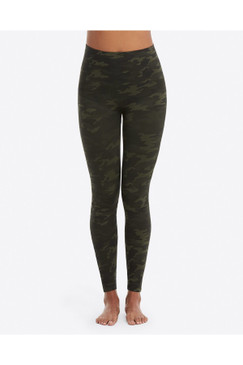 SPANX Look At Me Now Seamless Leggings in Green Camo