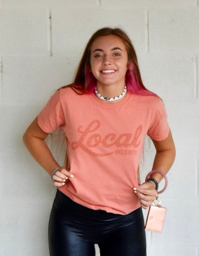 Local #KLEINTX Tee. Unisex. Terracotta Lightweight Comfort Colors T-Shirt.