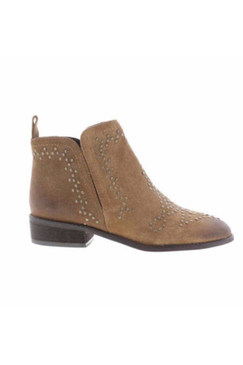 Sbicca Sansa Flat Brown Leather Bootie