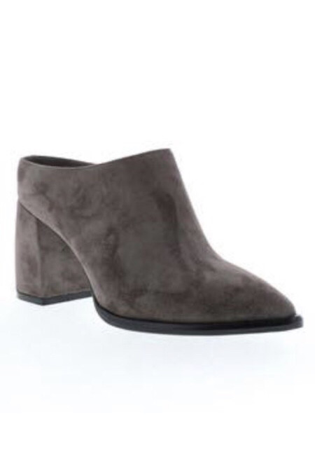 Sbicca Morrow Slip-On Grey Backless Stacked Heel