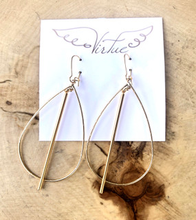 Virtue Hoop Spike Gold Earrings