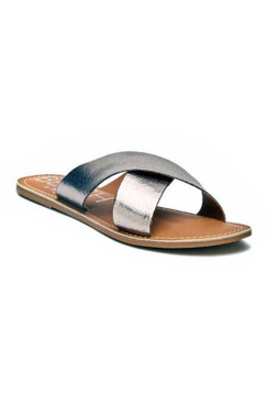 Matisse Pebble Pewter Slides
