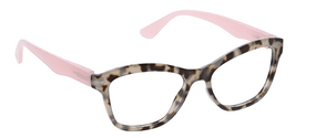 Peepers Pebble Cove Reading Glasses Gray Tortoise/Pink