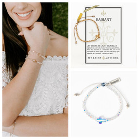 My Saint My Hero - Radiant Let There Be Light Bracelet - Color Options Aurora Borealis and Golden Shadow