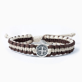 My Saint My Hero - One Blessing Bracelet - For Men - Tan/Brown