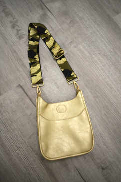 ah*dorned Gold Mini Messenger with Gold Camo Adjustable Strap