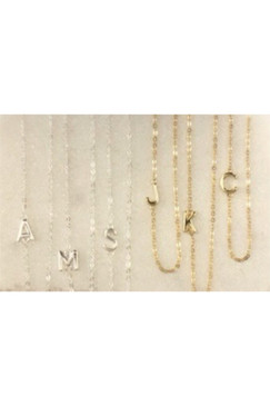 Balance Letter Necklace by Lotus 14K Gold Filled