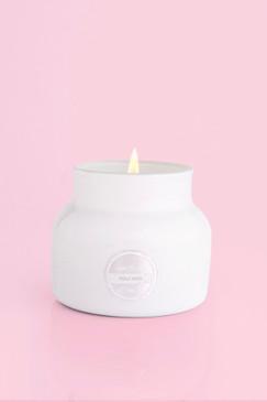 capri Blue Volcano Candle White Petite Jar, 8 oz