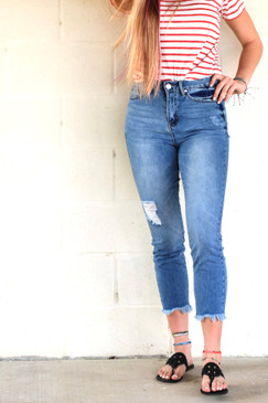 Dream Slim Straight Ankle Jeans
