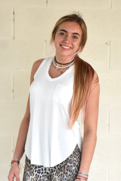 Annie Another Love Esther Pocket Tank in White