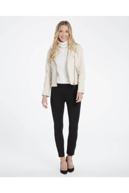 SPANX The Perfect Black Pant, Ankle Backseam Skinny - Ponte Fabric Fabric - Oprah's Favorite Things