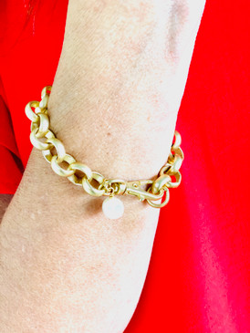 Virtue Gold Chain Bracelet with Pearl. Handmade