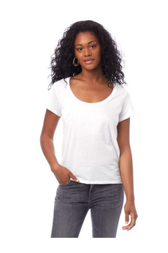 Alternative Organic Cotton Scoop Neck Tee - White