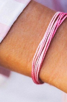 Pura Vida Charity Bracelets - Boarding for Breast Cancer
