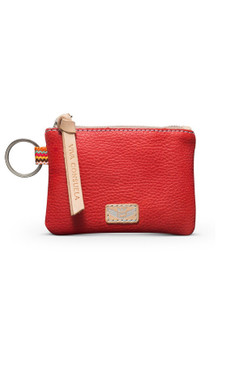Consuela Valentina Leather Pouch  Red