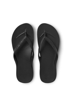 Archies Black Arch Support Flip Flops