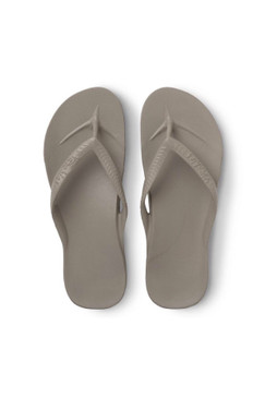 Archies Taupe Arch Support Flip Flops