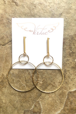 Virtue Bar Post with Double Hoop Earring