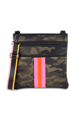 Haute Shores Peyton Thrill Crossbody Green Camo