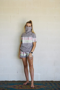 Jordan Tie Dye Top Grey with Facial Cover