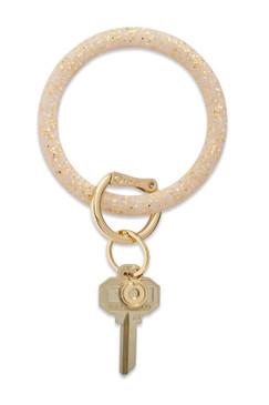 O-Venture Silicone Confetti Gold Rush Key Ring