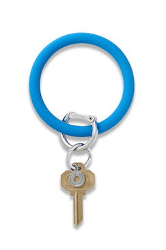 O-Venture Silicone Peacock Blue Key Ring