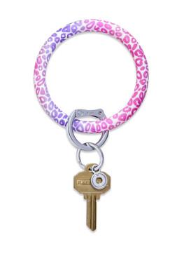 O-Venture Silicone Pink Cheetah Key Ring
