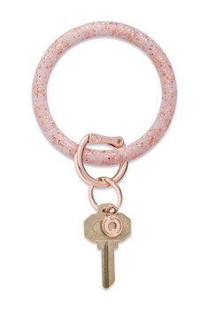O-Venture Silicone Confetti Rose Gold Key Ring
