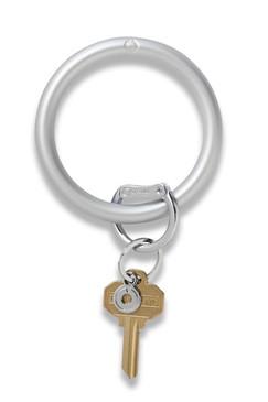 O-Venture Silicone Solid Metallic Quicksilver Key Ring
