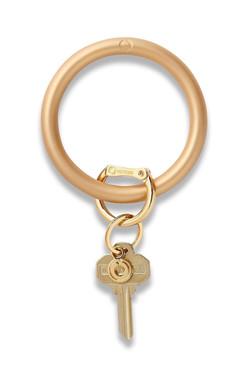 O-Venture Silicone Solid Metallic Gold Rush Key Ring