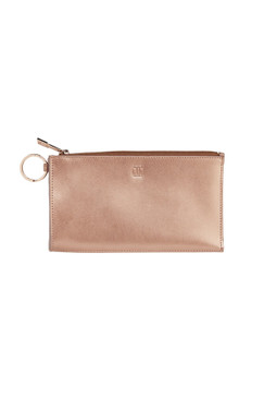 O-Venture Large Leather Rose Gold Card Case