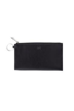 O-Venture Large Leather Black Card Case