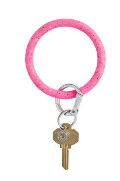 OVenture Silicone Confetti Key Ring Tickled Pink