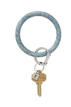 OVenture Silicone Confetti Key Ring Blue Frost Confetti