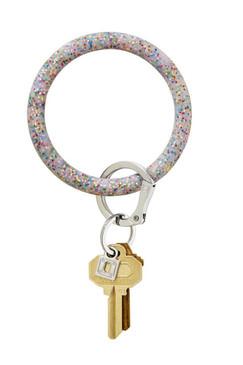 OVenture Silicone Confetti Key Ring Rainbow Confetti